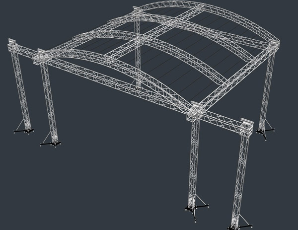 Truss arc roof